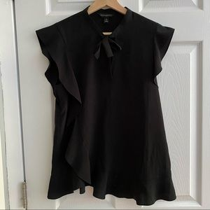BANANA REPUBLIC Blouse with Tie Black Size XS